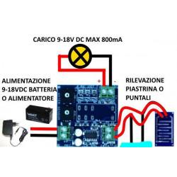 Multi-purpose anti-flooding rain water sensor 12V DC output VDC plate
