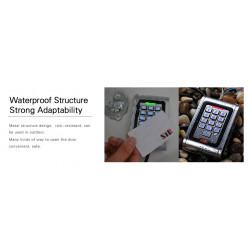 Cerradura electrónica RFID + Teclado metálico antivandálico externo interno 2000 usuarios