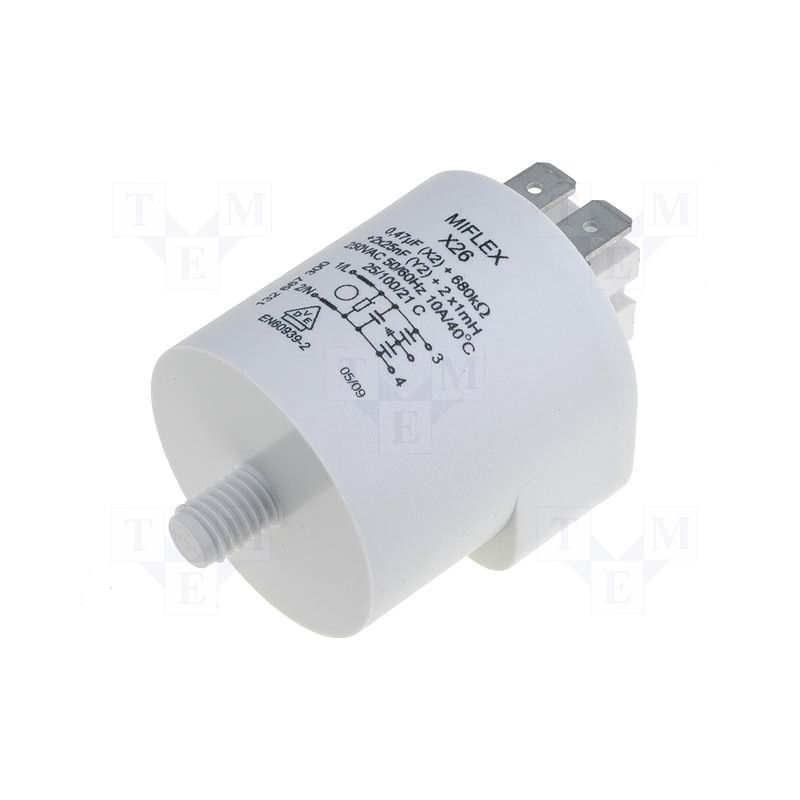 Filtro de red antiinterferencias EMI para electrodomésticos 250V 10A