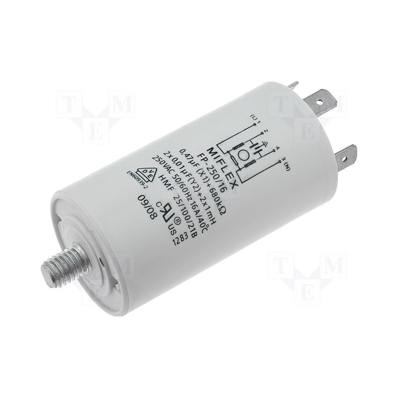 EMI-Entstörungsnetzfilter für Haushaltsgeräte 250V 16A