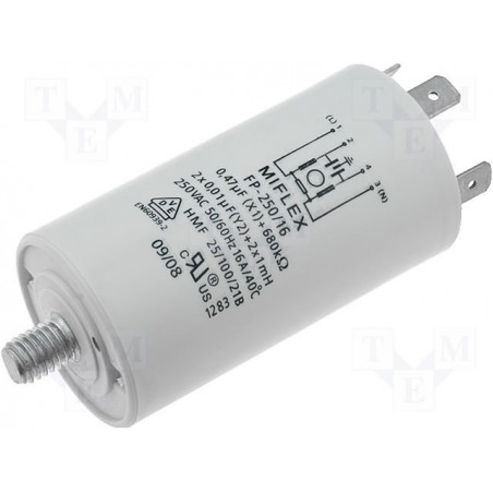 EMI anti-interference mains filter for household appliances 250V 16A