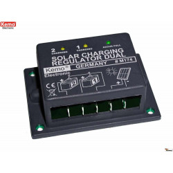 Double solar charge controller for 12V 16A photovoltaic panels