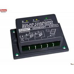 Regolatore di carica solare doppio per pannelli fotovoltaici 12V 16A