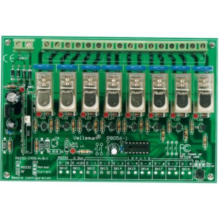 Set telecomando + ricevitore radiocomando 12V DC 8 canali relè 230V 5A