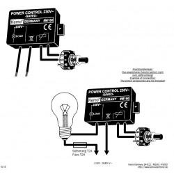 Controllo potenza 230V AC 1,3A 300W soft start trasformatori, luci, riscaldatori