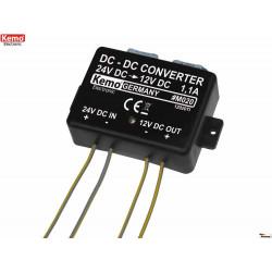 Convertidor DC-DC de 24 V a 13,8 V con corriente máxima de 500 mA