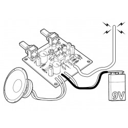KIT ricevitore sintonizzatore radio FM 87 – 108 MHz  9V DC uscita audio 0,7W