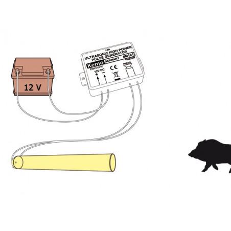 Repellente disturbatore ultrasuoni animali piccola taglia alta potenza 4 trasduttori
