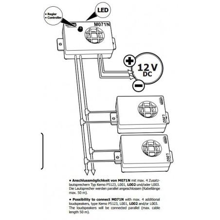 Trasduttore ad ultrasuoni aggiuntivo per Repellente disturbatore ultrasuoni M071N