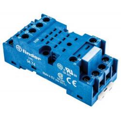 Zoccolo per barra DIN Finder 94 Series per uso con relè serie 55,34