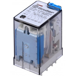 Relè elettromagnetico 4PDT Bobina 24VDC contatto 250V AC DC 7A Finder serie 55
