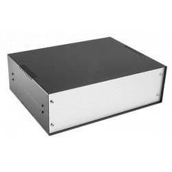 Pre-assembled black plastic panel console box 284x160x76 mm