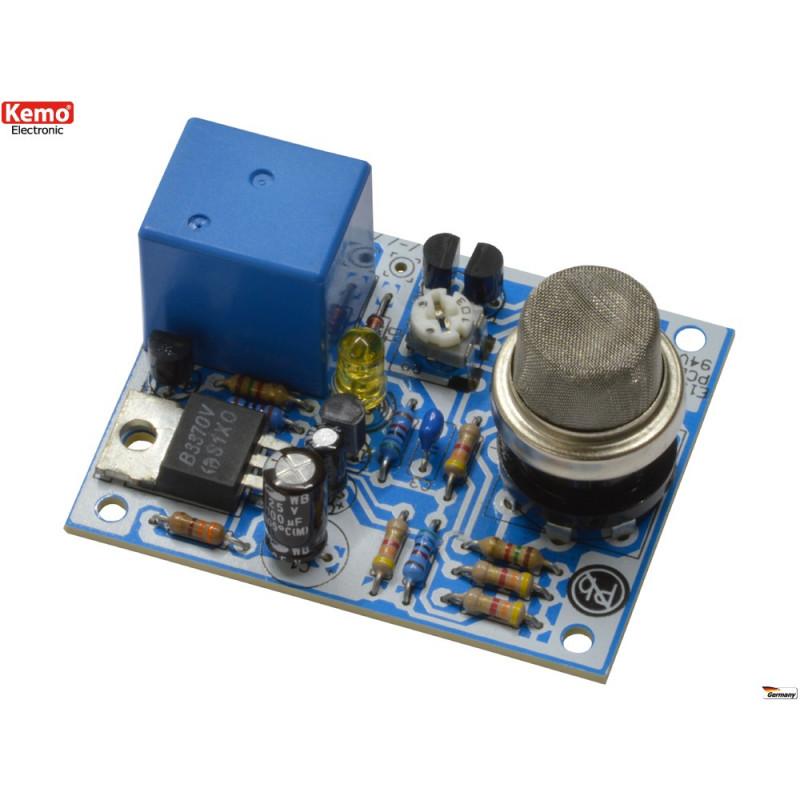 KIT sensore gas alcool, acetone, benzolo, propano, monossido con uscita relè