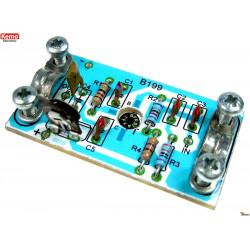 KIT amplificatore antenna regolabile 0-15dB, 50-1000 Mhz, 75 Ohm, 6-18 VDC