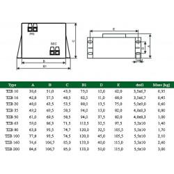 Encapsulated transformer with terminals 230V 24V 120VA TMBZ 120 / 002M