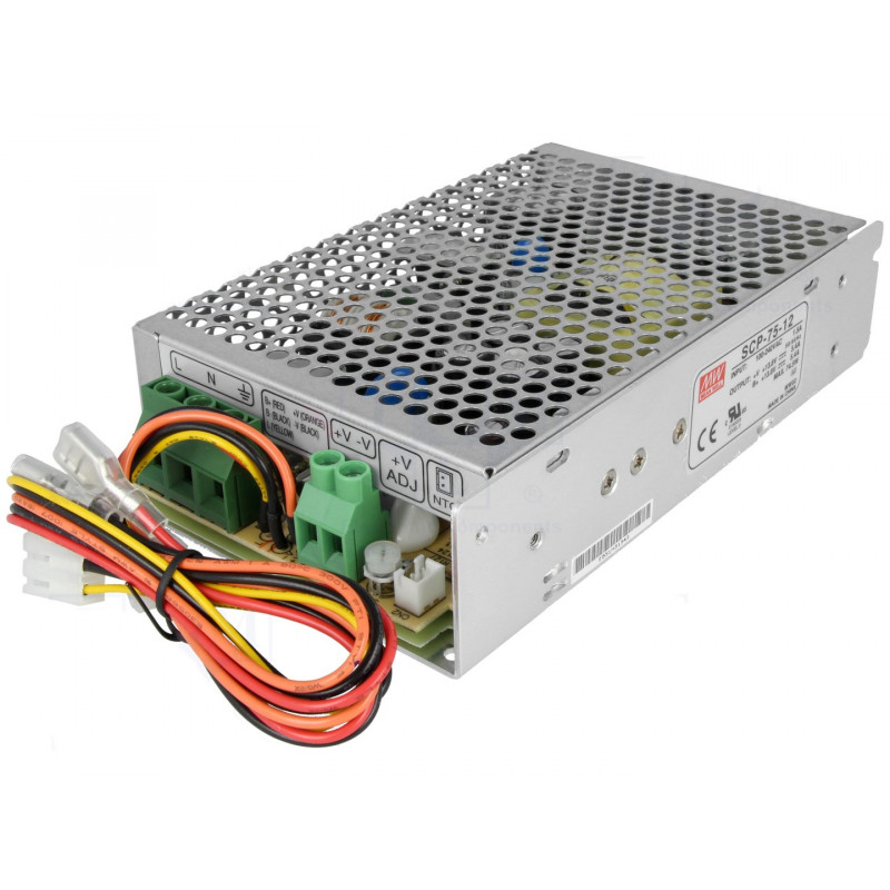 Switching power supply 13,8V 5,4A SCP-75-12 UPS battery BACKUP