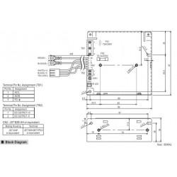 Fuente de alimentación conmutada 27,6V 2,7A SCP-75-24 UPS batería BACKUP