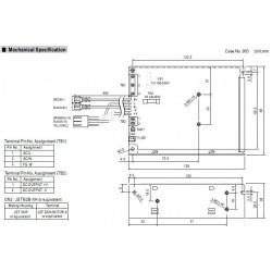 Fuente de alimentación conmutada 27,6V 2,2A SCP-50-24 UPS batería BACKUP