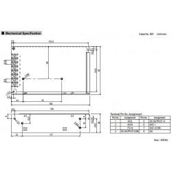 Alimentatore switching 13,8V 3,5A AD-55A UPS batteria BACKUP