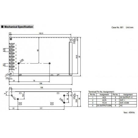 Alimentatore switching 27,6V 1,8A AD-55B UPS batteria BACKUP
