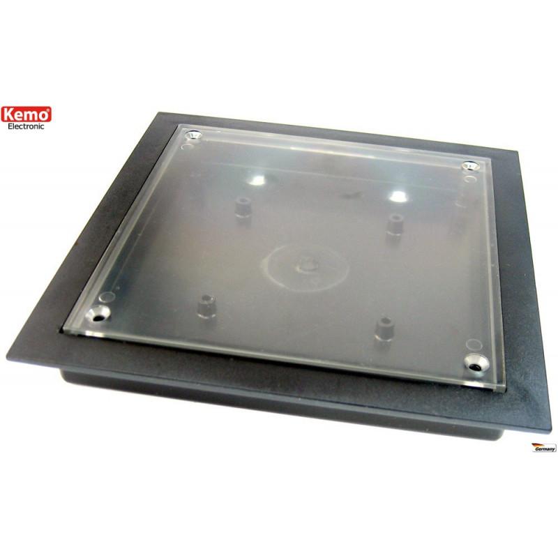 Case contenitore con display vetrina plastica trasparente ca. 130 x 130 x 17 mm