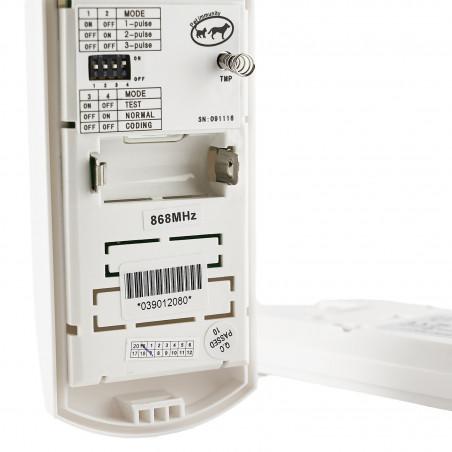 Sensor PIR volumétrico antirrobo inalámbrico 868 MHz Defender PET inmune