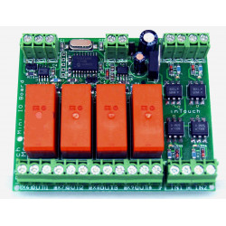 MB bus Mini IO Device - 4 input + 4 output su bus RS485 con 32 dispositivi collegabili
