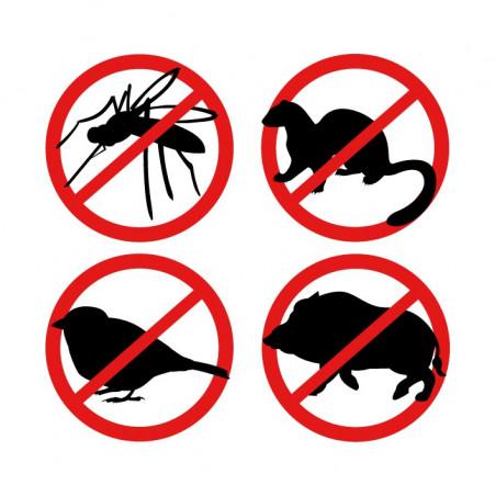 Repellente disturbatore ultrasuoni animali e insetti ad alta potenza 12V 100m