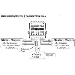 Interruttore MASTER SLAVE attivazione apparati 6 - 30V DC con Master attivo