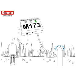 Soil moisture sensor for irrigation with adjustable sensitivity and output relay contact