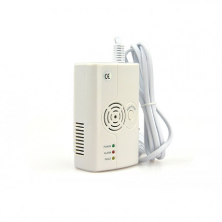 Rilevatore fughe di gas metano e GPL con sirena 75db e tx wireless FR575