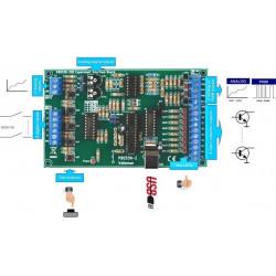 KIT Interfaccia PC USB I/O 5 input 8 output analog 2 in 2 out K8055N