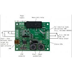 TIMER universale programmabile 12V DC uscita relè 250V 8A con interfaccia USB PC