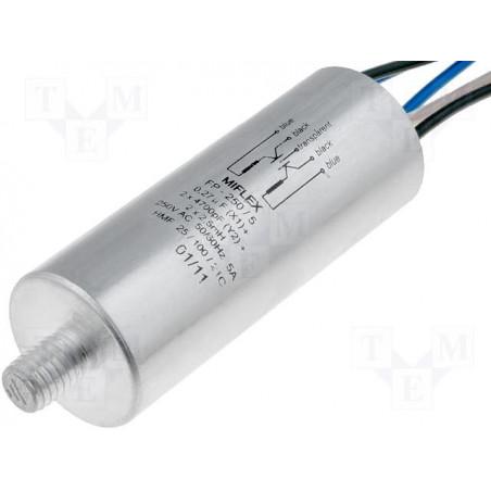 Filtro de red antiinterferencias EMI para electrodomésticos blindado con cables 250V 5A