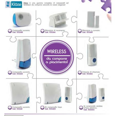 Suoneria senza fili wireless componibile con accessori Avidsen Klate