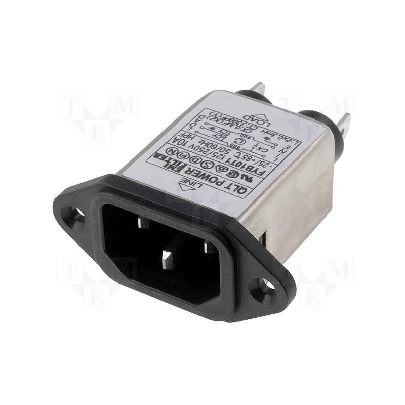 EMI-Entstörungsnetzfilter am Stecker IEC 60320 C14 E 250V 10A