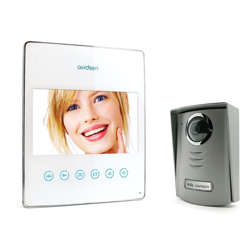 KIT Videocitofono a colori con collegamento a 2 fili monitor LCD ultrapiatto Avidsen