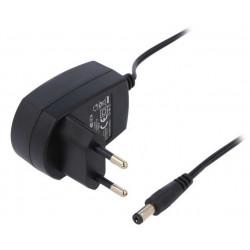 Alimentatore switching universale 12V DC 100mA compatto con uscita connettore DC