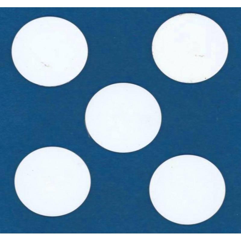 10 BUTTON TAG RFID 125kHz EM4100 WHITE