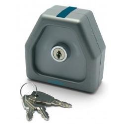 Contatto pulsante NA a chiave due funzioni a 1 impulso per cancelli e portoni