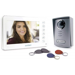 SET Videocitofono YLVA 2+ colori LCD apertura cancello portoncino BADGE TAG RFID