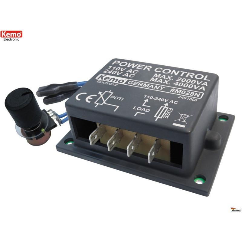 CONTROLLO POTENZA 110-240V 4000VA per motori, riscaldatori e lampadine