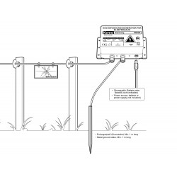 Impulsive high voltage generator for deterrent fences for small animals