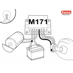 POWER CONTROL PWM 9-28V DC 10A for motors, heaters and LEDs