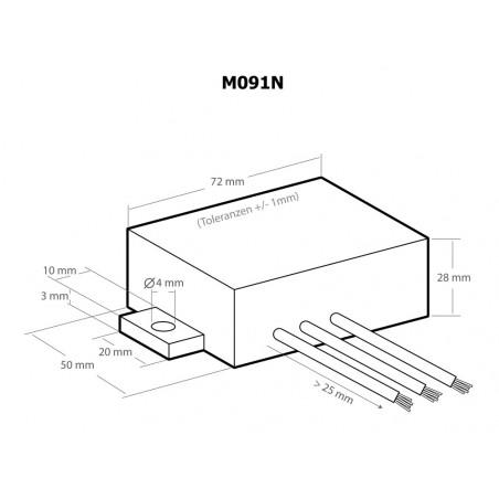 Acoplador trifásico para redes de enchufes domésticos de línea eléctrica que transmiten ondas de hasta 650 Mbit / s