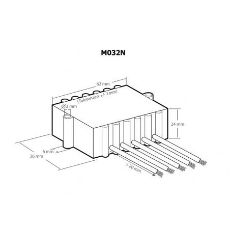 Amplificatore audio di potenza 18W compatto 4 – 8 - 16 Ohm 8-20V DC