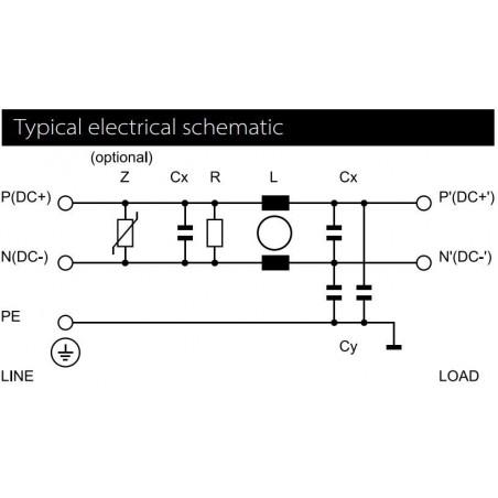 Filtro de red antiinterferencias EMI para dispositivos eléctricos electrónicos 250V 16A