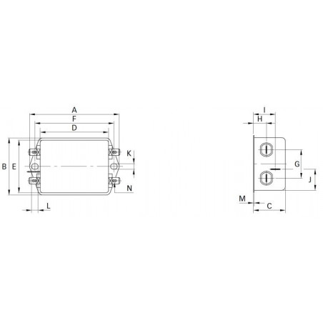 Filtro di rete antidisturbo EMI per dispositivi elettrici elettronici 250V 16A