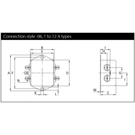 Filtre secteur anti-interférence EMI pour appareils électriques électroniques 250V 10A