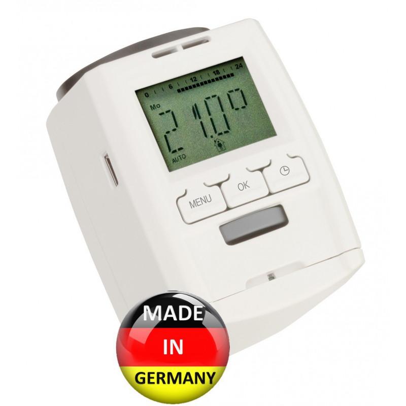Testina termostatica crono termostato digitale TTD101 a batteria con display